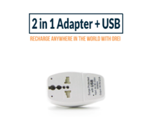 OREI | 2-in-1 Adapter + USB